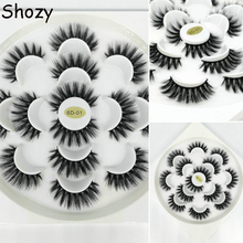 Cucommax 7/10 pairs natural false eyelashes fake lashes long makeup 3d faux mink lashes extension mink eyelashes for beauty mink keer 7 41