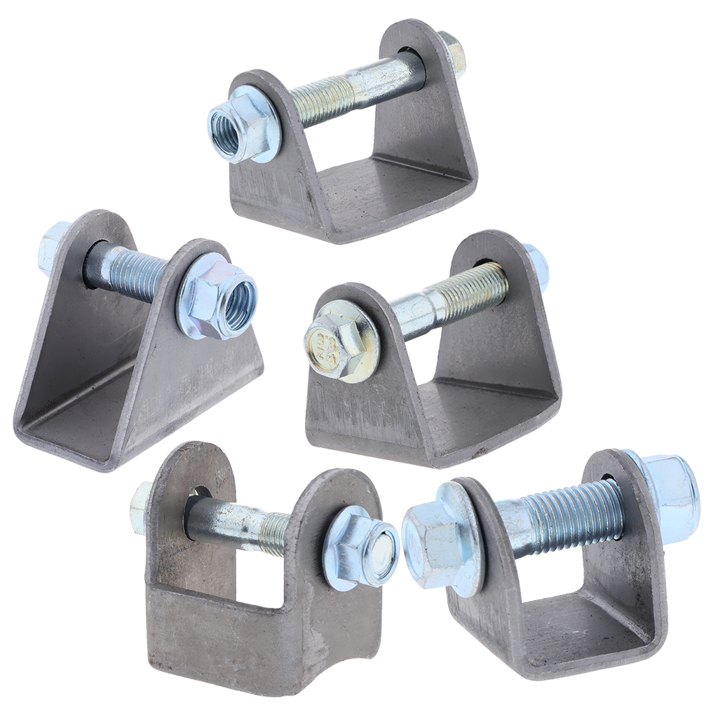 Wide Flat Mount Style Weld-On Coil-Over Shock Mounting Bracket