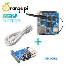 Placa de expansión Orange Pi Zero 2, 1GB, Cable tipo C, Allwinner H616,Run Android 10,Ubuntu