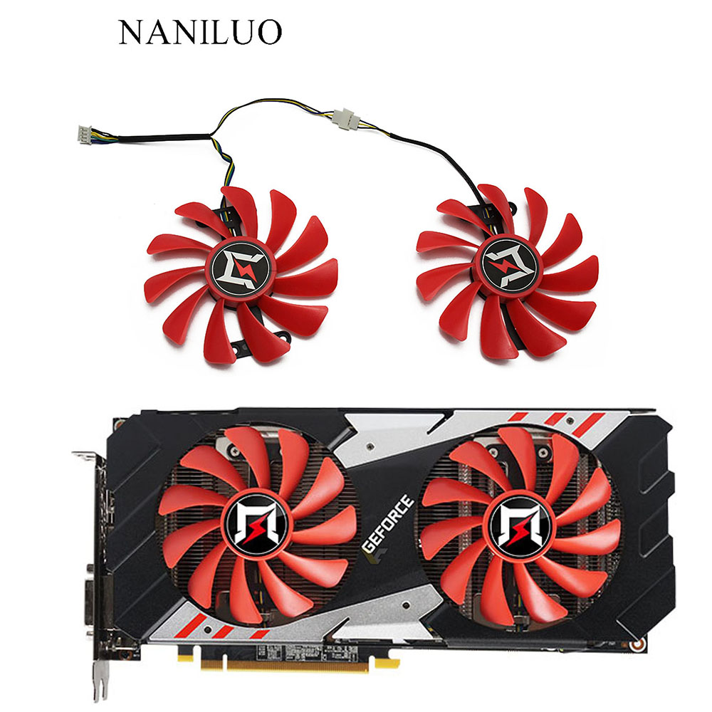 2PCS/lot For Gainward GeForce GTX 1070/1070ti herd edition GPU Cooler Palit GTX 1080 GTX1070 OC Video Alternative Cooling Fan image