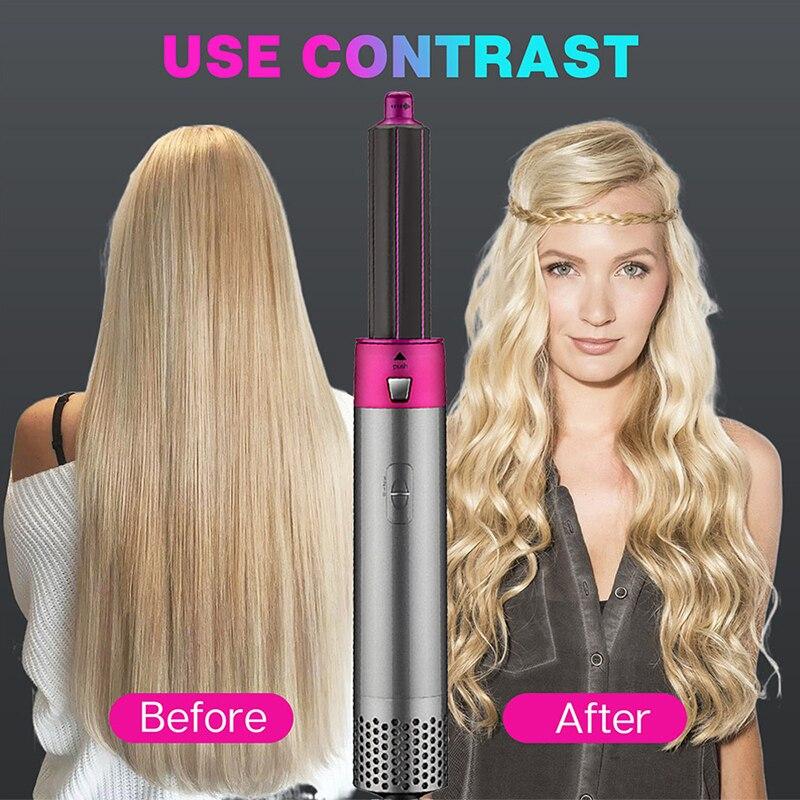 5-em-1 secador de cabelo multi-função curling ferro