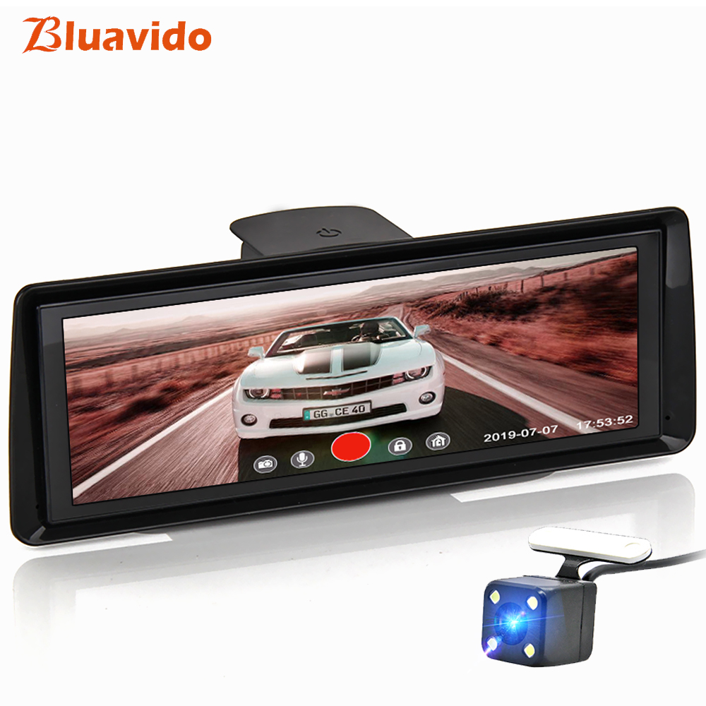 Bluavido 8 IPS 4G ADAS Car Dash cam Android GPS Navigation 1080P car video recorder Night