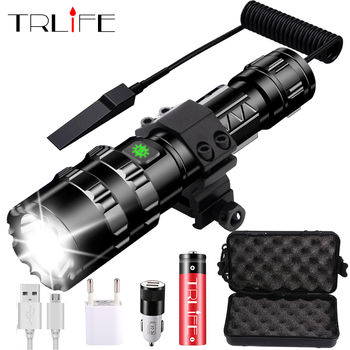 8000Lums LED Flashlight Tactical Torch Powerful Usb Rechargeable Lamp L2 Hunting Light 5 Modes C8 Flashlights Hunting Scopes