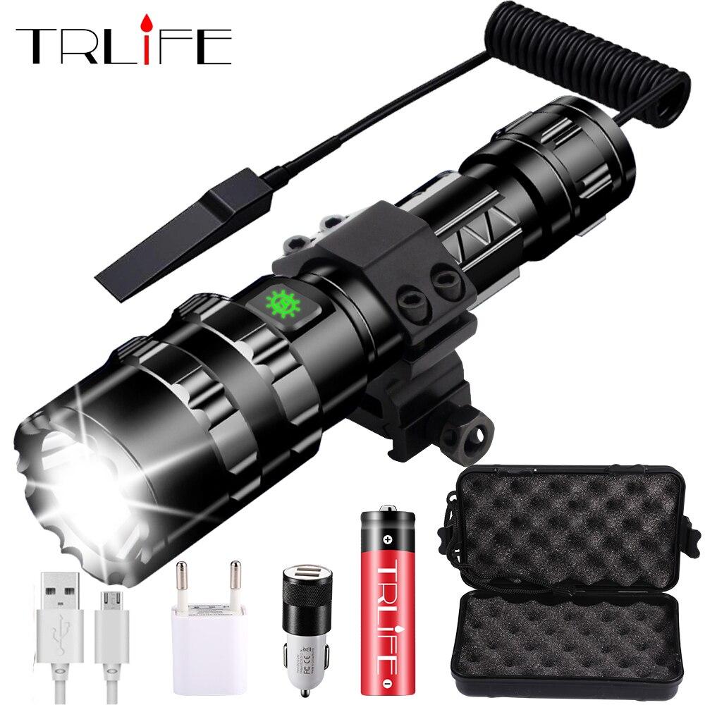 Linterna LED de 8000 lúmenes, linterna táctica potente, lámpara recargable usb L2, luz de caza, 5 modos C8, linternas para caza|Linternas y antorchas|   - AliExpress