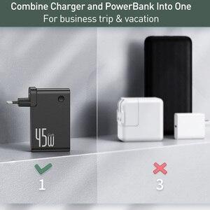 Image 5 - Baseus GaN Power Bank Ladegerät 10000mAh 45W USB C PD Schnelle Lade 2 in 1 Ladegerät & Batterie als Eine ForiP 11 Pro Laptop ForXiaomi