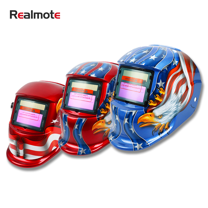 Realmote  PP Solar Automatic Photoelectric Darkening Adjustable Welding Mask Helmet ForWelding Machine