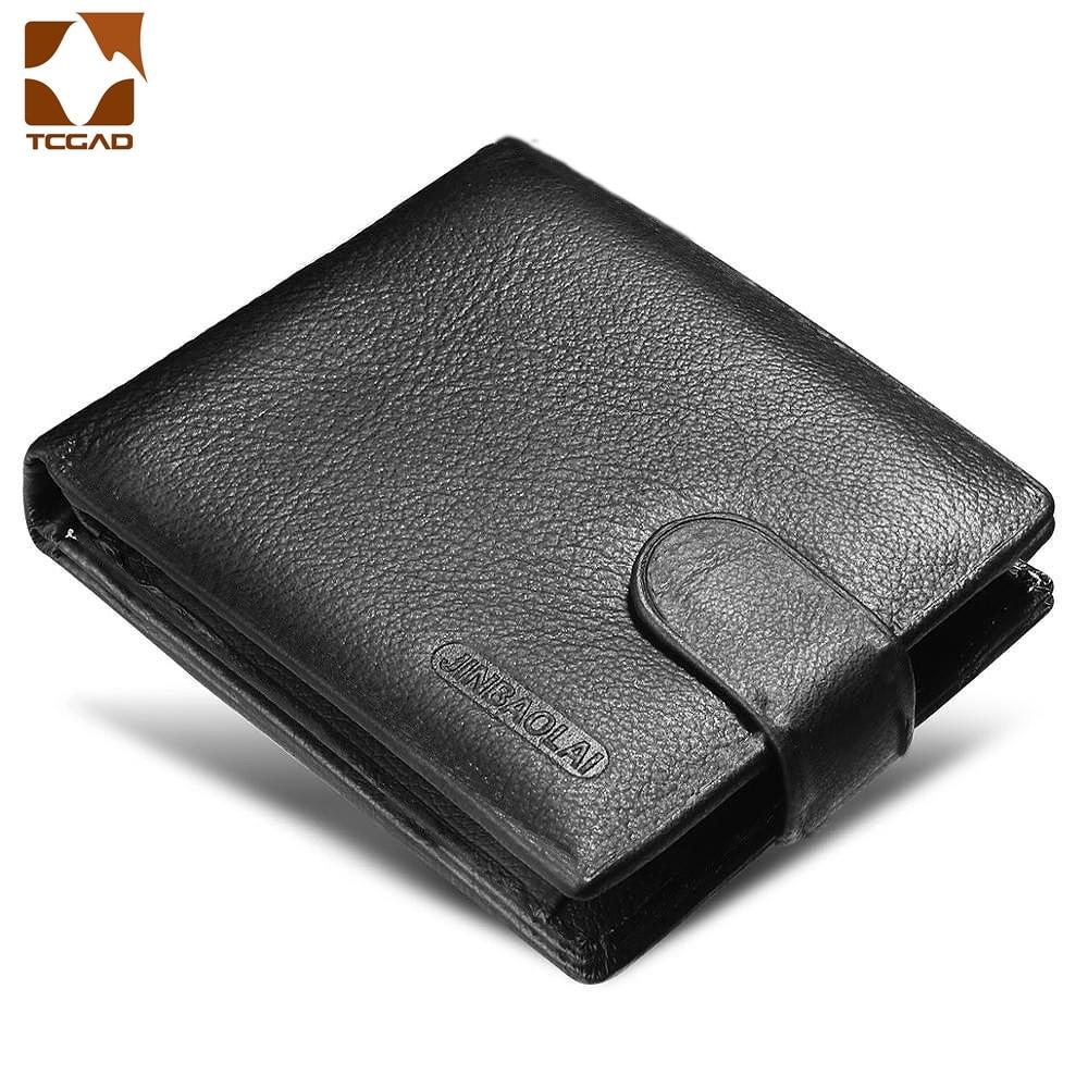 Men's Wallet Made Of Genuine Leather 2019 Designer Cow Purse Short Billeteras Para Hombre Carteras De Cuero Male Erkek Cuzdan