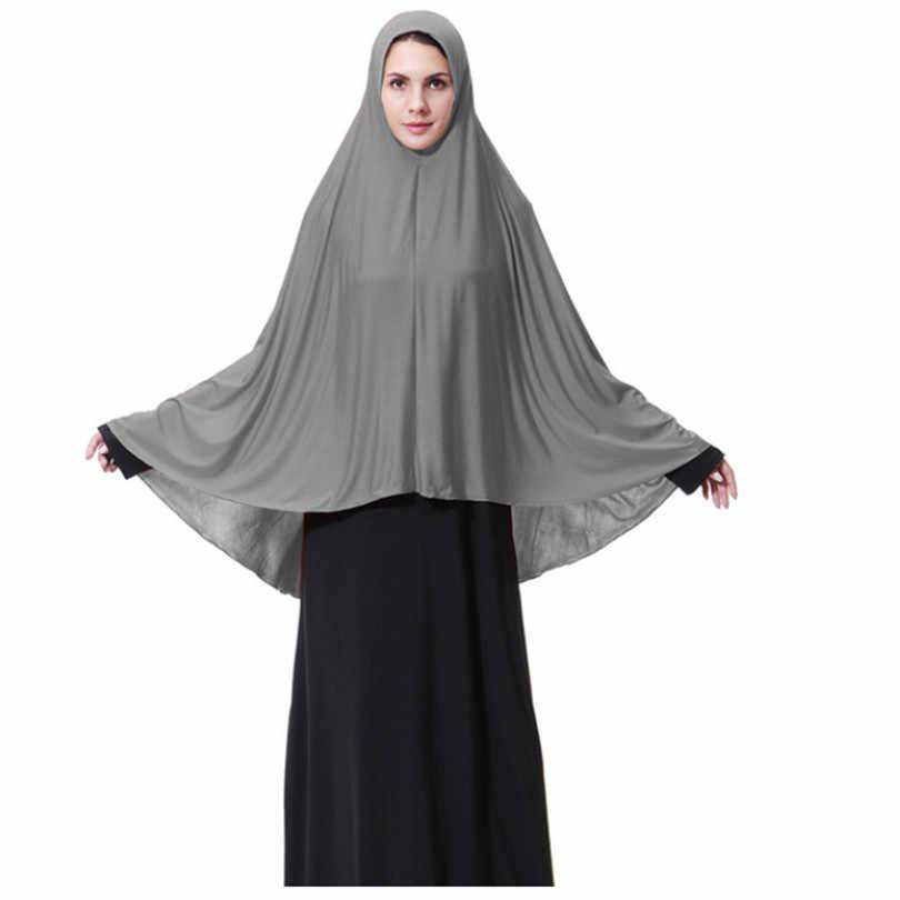 Kadın namaz giyim siyah arap kadınlar uzun müslüman başörtüsü şapka islam ürünleri başörtüsü Abaya müslüman başörtüsü