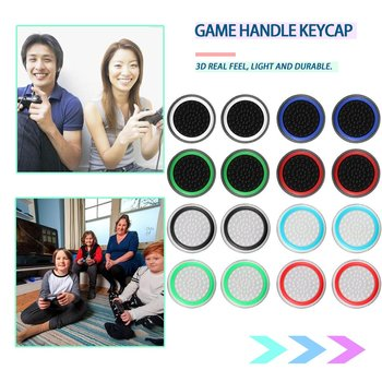 4pcs/lot Game Accessory Protect Cover Silicone Thumb Stick Grip Caps for PS4/3 Xbox 360/for one Controllers
