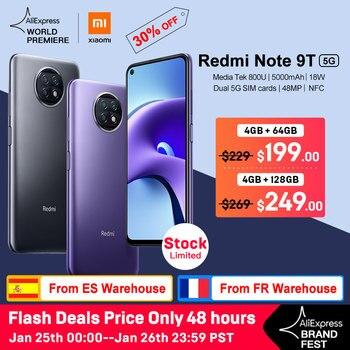 WELT PREMIERE Xiaomi Redmi Hinweis 9T 5G 4GB 64GB /128GB smartphone Dimensity 800U Globale version NFC 5000mAh 48MP Kamera