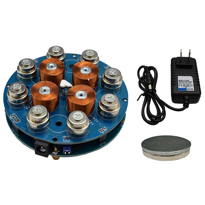 Magnetic Levitation Module Magnetic Suspension Core Lamp Load-Bearing Weight 300G Finished(US Plug)