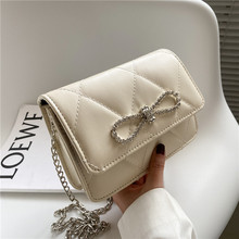 Square Bag Messenger-Bag Chain Small One-Shoulder New-Fashion Female Bow-Spring Cute