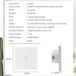 Image 4 - ใหม่TX SONOFF T0 EU/UK/US 1/2/3 Gang Wall Light Switchสมาร์ทWifiแผงไร้สายรีโมทคอนโทรล/Ewelink/เสียงGoogle Home