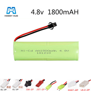 4.8v 1800mah Battery nicd AA 4.8 v rechargeable battery for rc toy Car Boat model lighting facilities remote control toys NI-CD image