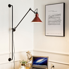 Modern Rotatable LED Wall Light Fixture Vintage Long Arm Wall Lamp For Living Study Dinning Retro Loft Wall Lighting Home Indoor