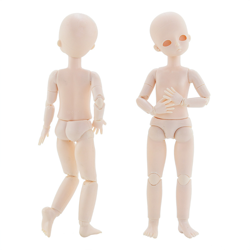 1/6 Bjd Puppe 28cm Baby Puppe Spielzeug Weiß Haut Nude Puppe Körper DIY Make-Up Puppe Kopf 22 Bewegliche Gelenk puppen für Mädchen Spielzeug