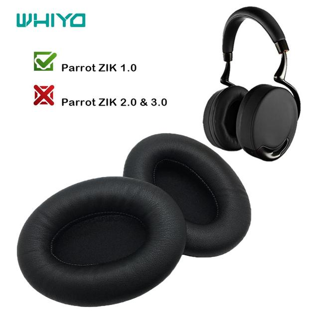 Whiyo 1 Pair of DIY Replacement EarPads for Parrot ZIK 1.0 1 by Philippe Headphones Cushion Ear pad Cups Earmuffes Cover Sleeve