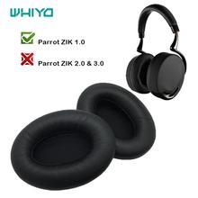 Whiyo 1 par de substituição diy earpads para parrot zik 1.0 1 por philippe fones de ouvido almofada da orelha copos earmuffes capa manga