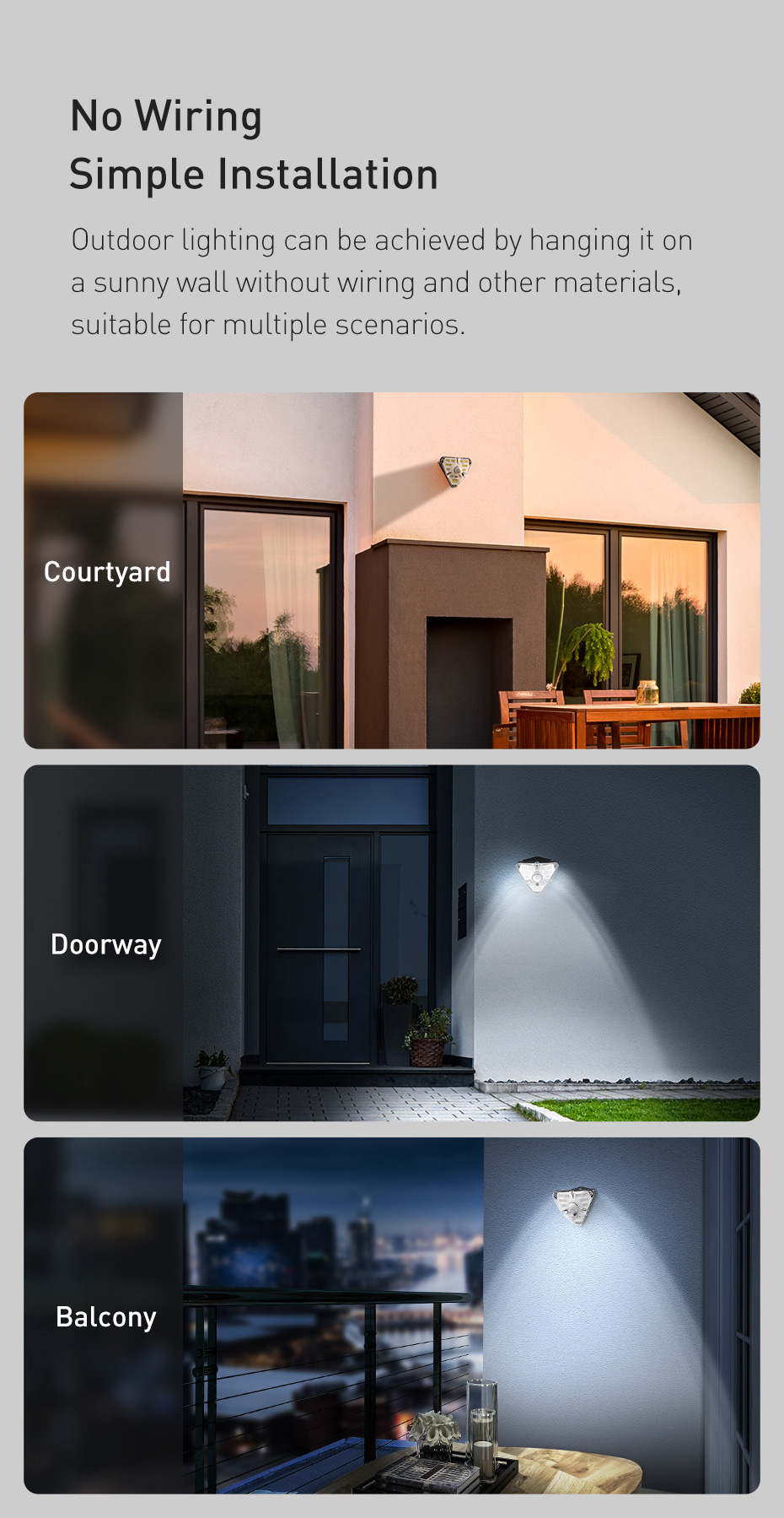 Baseus Outdoor Waterproof LED Solar Light With Motion Sensor 12 Baseus Outdoor Waterproof LED Solar Light With Motion Sensor Love Me Some Gadgets