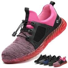 التسليم المباشر غير قابل للتدمير رايدر أحذية الرجال والنساء الصلب تو الهواء أحذية السلامة مكافحة ثقب العمل رياضية تنفس أحذية