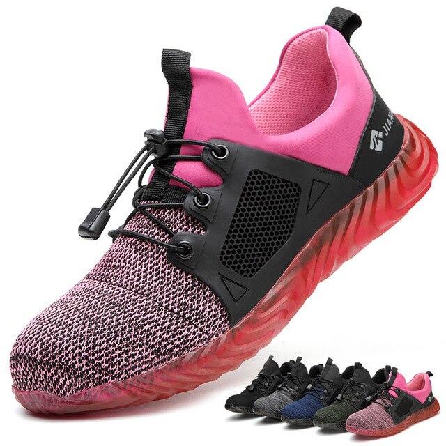 Ryder zapatos indestructibles con punta de acero para hombre y mujer, botas de seguridad antiperforación, transpirables, para trabajo