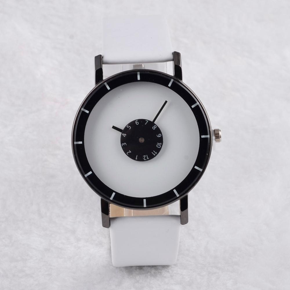 Leather Band Fashion Couple Watch Simple Unique Cute Women Watch Men Clock Quartz Wrist Watch Lover Regalo Hombre 2019