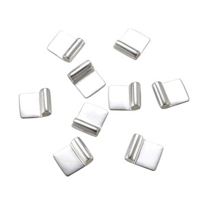 Image 2 - 100pcs Silver Color Brass Glue on Flat Pad Bails for Jewelry Making DIY Accessories Findings 18x15.5mm Hole: 4.5mm