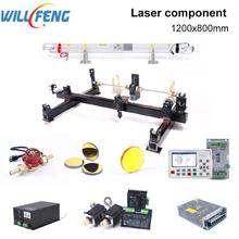 Will Feng 1200x800mm DIY Whole Mechanical Kit With 80w 100w Laser Linear Rail Guide Assemble Co2 Laser Cutter Engraving Machine