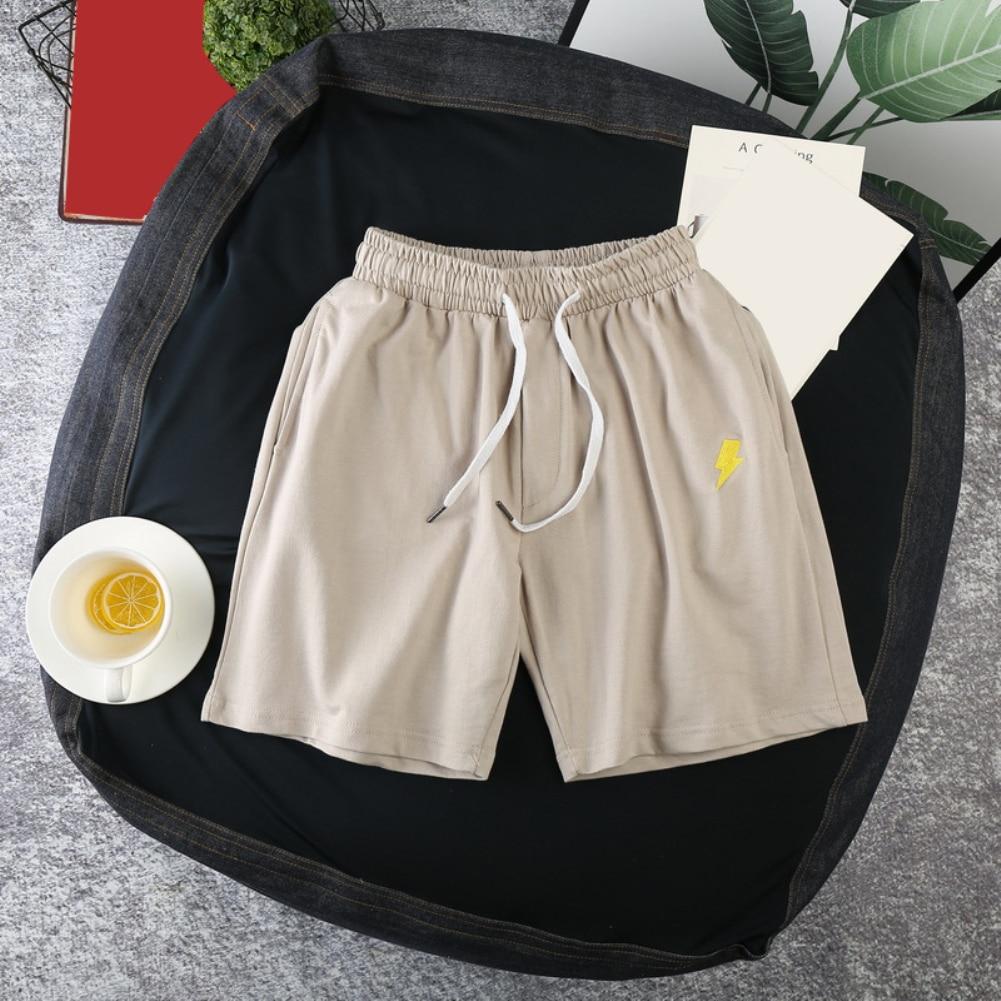 M-3XL Summer Running Shorts Men Sun Moon Quick Drying Drawstring Elastic Fifth Pants Board Sports Gym Shorts Pants Clothing 4