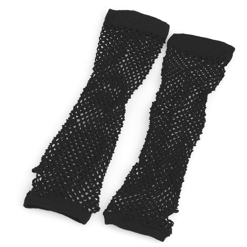 Sexy Women Lady Punk Dance Costume Party Lace Fingerless Fishnet Gloves Mittens