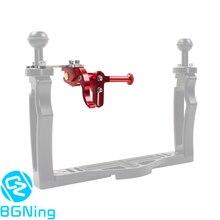 BGNing regulowany spust migawki przedłużenie kamera sportowa stojak do montażu nurkowego lustrzanka podwodna Adapter do canona do Nikon