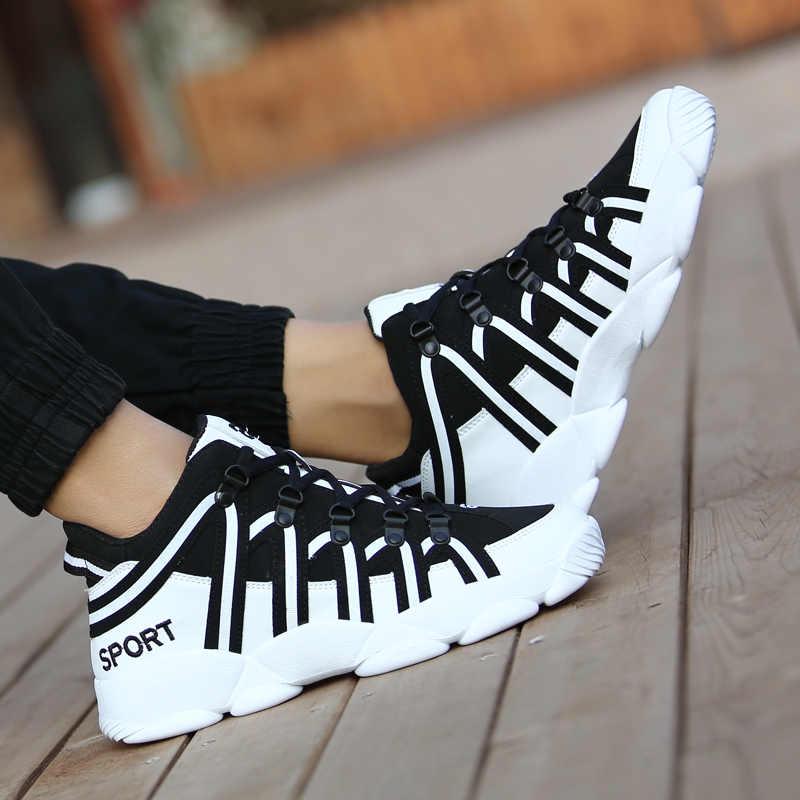HUMTTO basketbol ayakkabıları erkekler kadınlar yüksek top yastıklama basketbol ayakkabı artı boyutu rahat spor ayakkabılar Unisex siyah beyaz