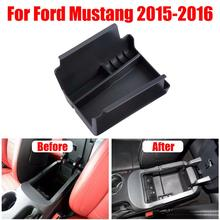 Interior Center Glove Storage Box Armrest Organizer Tray Holder  Car Armrest Secondary Console Storage For Ford Mustang 15-16
