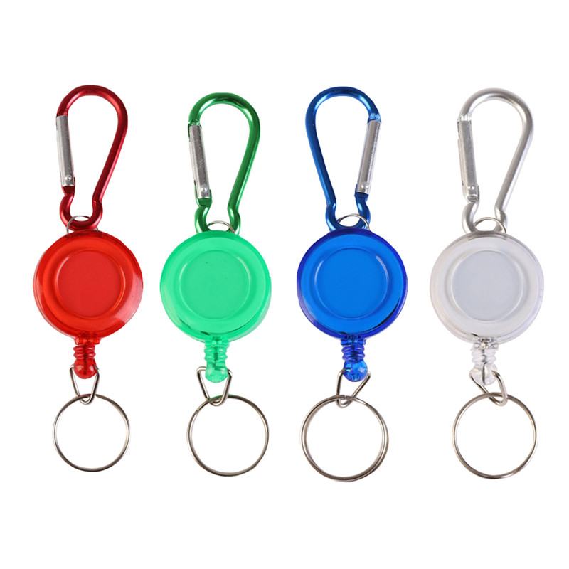 New Portable Fly Fishing Rope Tape Measure Tools Retractor Keychain Retractable Reel Badge Holder Fly Fishing Carabiner Clip
