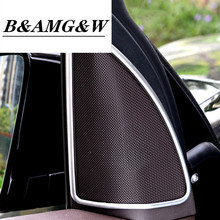 Car Styling Door Stereo Audio Speaker Frame Decoration Sticker Trim For Mercedes Benz ML GL GLE Horn Loudspeaker Accessories