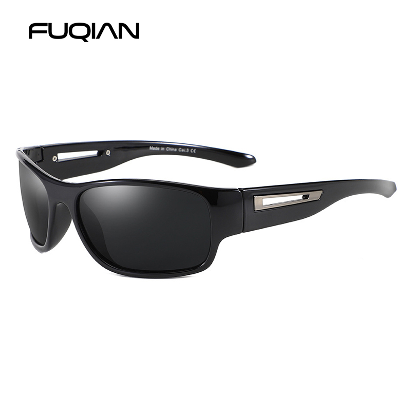 FUQIAN Brand 2019 Sport Sunglasses Men Polarized Fashion Outdoor Women Sunglass Goggle UV400