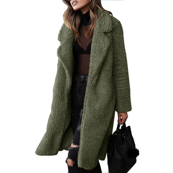 2020 Autumn Winter Faux Fur Coat Women Warm Teddy Ladies Jacket Female Long Plus Size Outwear Plush Overcoat