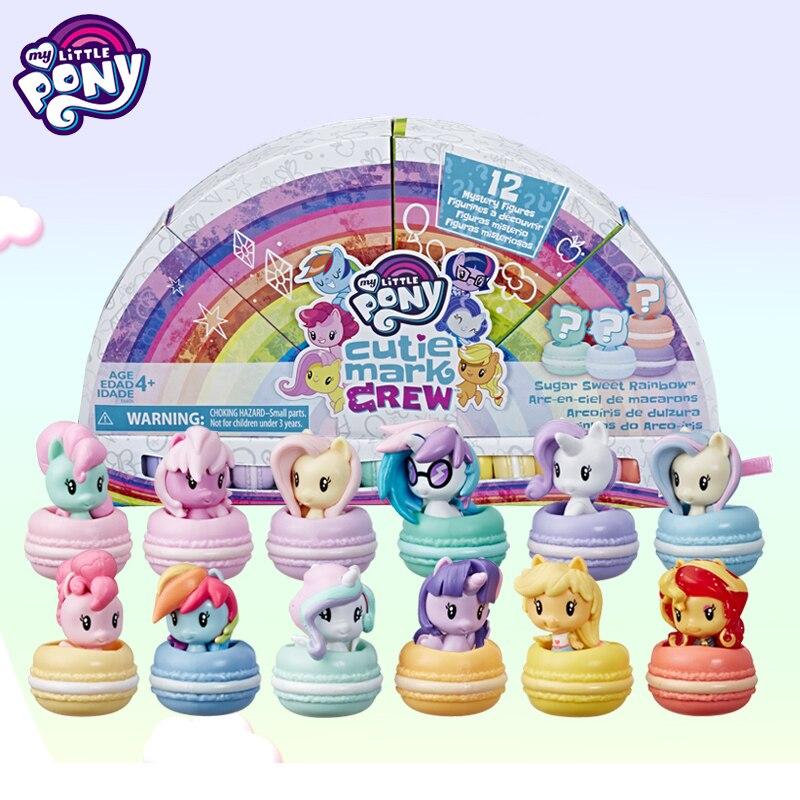 Mon petit poney rêve Makaron costume Mini mignon édition boîte aveugle Surprise filles maison cadeau E6606 Anime Figure enfant jouets pour enfants