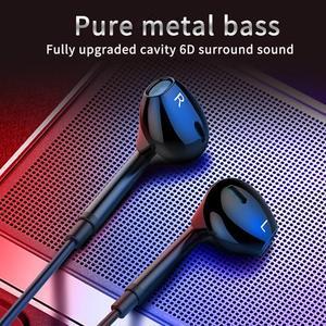 Наушники-вкладыши, проводные наушники, HIFI, шумоподавление, металлические музыкальные наушники с микрофоном для Xiaomi Huawei iphone 12