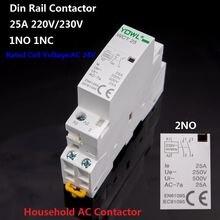 Контактор переменного тока 2no 1no 1nc 2p 16a/25a 220 В/230