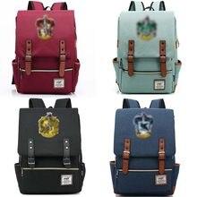 Рюкзак для косплея 2020, мужские и женские студенческие рюкзаки, школьная сумка, Поттер, пуффендуй, Когтевран, Слизерин, школьная сумка