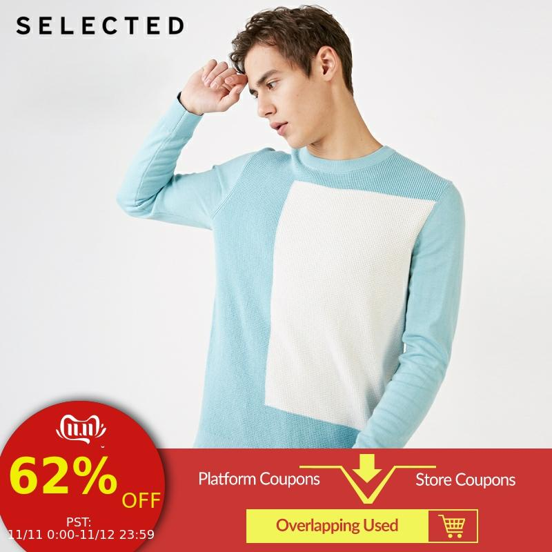 SELECTED Cotton Contrasting Regular Fit Knitted Tops S|419124554