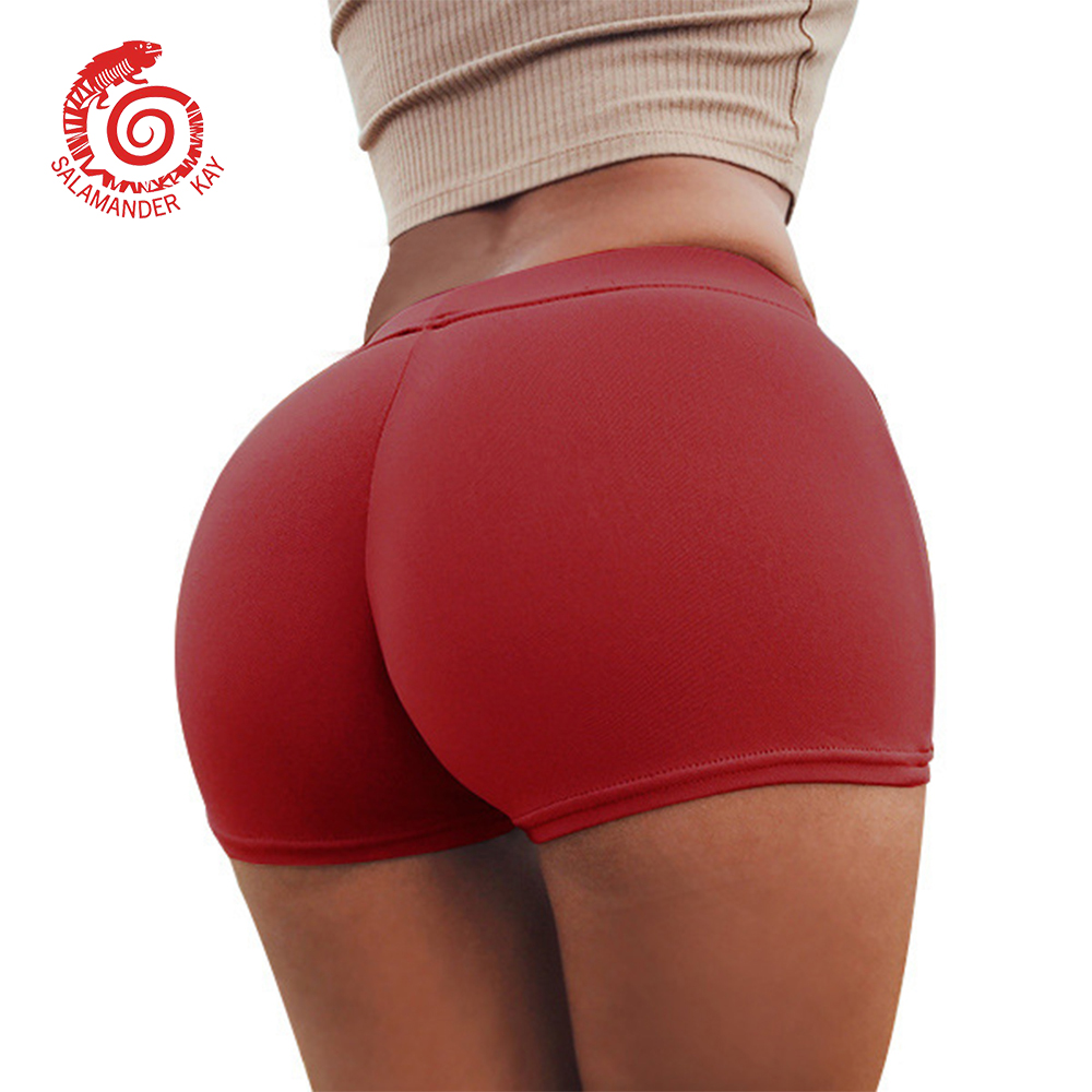Sexy Women Shorts Sports Fitness Short Pants Female Push Up Gym Clothing Solid Color Lady Elastic Breathable Flex Shorts Outside