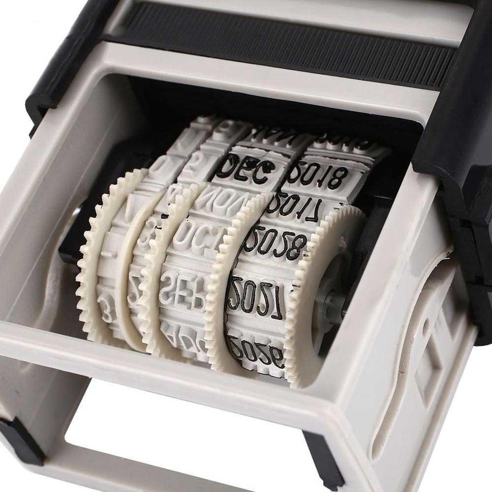 מיני מילות גלגל רעיונות אספקת ביול ABS חשבון רולר חותם DIY משרד אספקת בוץ סט תאריך חותם תאריך בולים