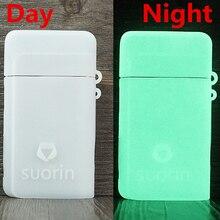 2 قطعة غطاء مطاطي الجلد ل Suorin الهواء زائد جراب واقية سيليكون الملمس حافظة الجلد التفاف درع مكافحة زلة دائم هلام