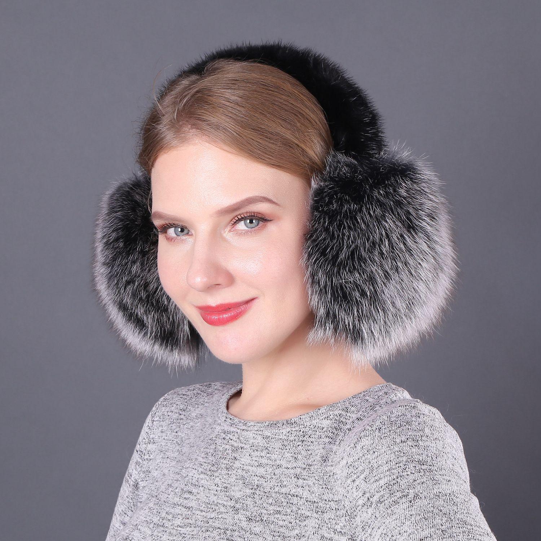 Korean Edition Winter Heating Fur And Fur Fur Ear Mask Mink Bracket Ear Protector Hair Ear Warm Real Hair Ear Cover