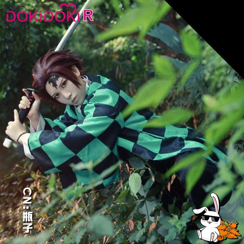 DokiDoki Anime Demon Slayer: Kimetsu No Yaiba Cosplay Kamado Tanjiro Costume Men  Kimetsu No Yaiba Cosplay Anime Kimono Costume