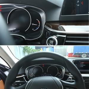 Image 3 - פחמן כרום רכב לוח מחוונים רדיאטור מד מרחק קישוט מסגרת כיסוי Trim מדבקה עבור BMW 5 סדרת G30 G38 530li 520Li 2018 2020