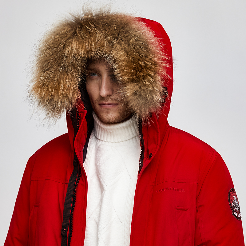 Image 5 - Tiger Force 2019 Alaska Parka Winter Jacket for Men Waterproof Warm Coat  with Real Fur Hooded Male Thick Snowjacket Big Pocket-in Parkas from Men's Clothing