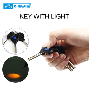 Image 4 - INBIKE Bicycle Lock Anti theft Cable Lock 0.85m Waterproof Cycling Motorcycle Cycle MTB Bike Security Lock with Illuminated Key